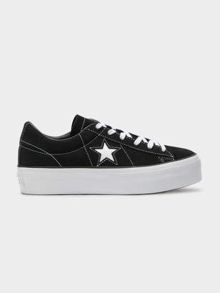 921bbf892bd0 Converse Womens One Star Platform Sneakers in Black White