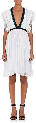 Philosophy di Lorenzo Serafini Women's Contrast-Trimmed Lace Minidress