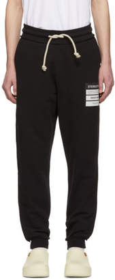 Maison Margiela Black French Terry Stereotype Lounge Pants