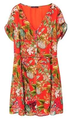 Violeta BY MANGO Tropical print dress