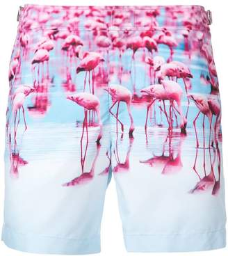 Orlebar Brown flamingo print swim shorts