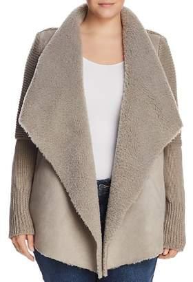 Bagatelle Plus Faux Shearling Draped Jacket