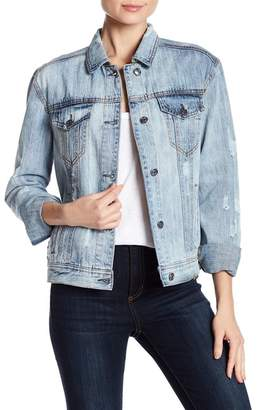 Bagatelle Embroidered Back Denim Jacket