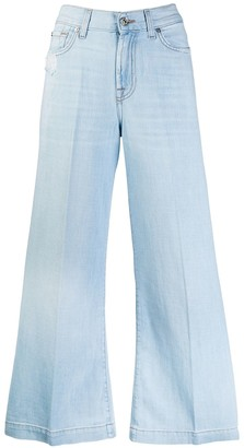 7 For All Mankind cropped flared denim jeans