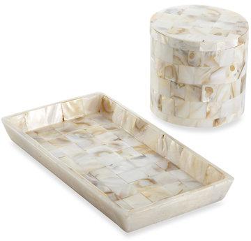 Affordable capiz shell decor popsugar home - Capiz shell bathroom accessories ...