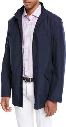 Kiton Zip-Front Jacket with Pack-Away Hood