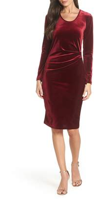 Fraiche by J Ruched Velvet Body-Con Dress