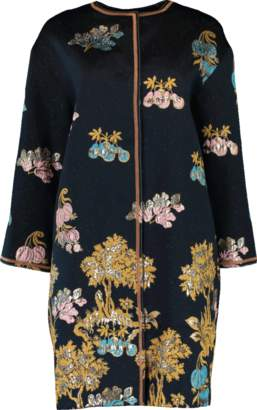 Peter Pilotto Jacquard Cocoon Coat