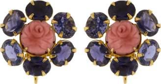 Bounkit JEWELRY Flower Clip Earrings