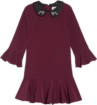 Milly Minis Bridgette Crystal Collar Dress