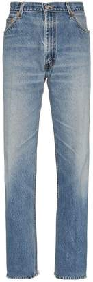 RE/DONE straight leg high-waisted cotton jeans