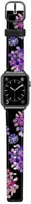 CASETIFY Saffiano Purple Flowers Faux Leather Apple Watch Strap