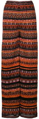 M Missoni knit wide leg trousers