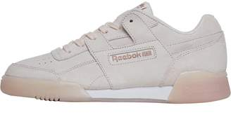 Reebok Classics Womens Workout Plus ICE Trainers Pale Pink White Rose Gold f6151927ac