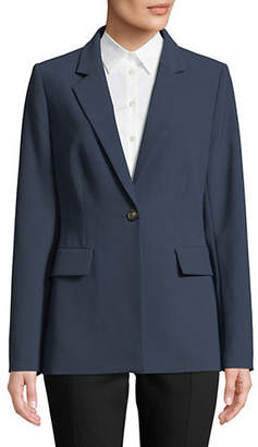 Donna Karan Harbor One-Button Blazer Jacket