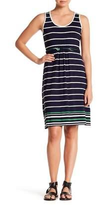 Max Studio Knit Tank Stripe Dress