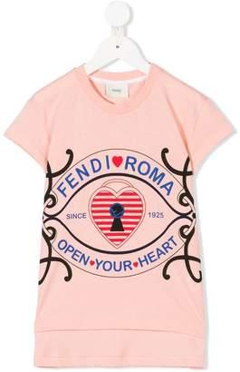 Fendi open your heart print T-shirt