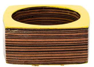DSQUARED2 Lacquered Wood Square Bangle