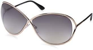 Tom Ford Women's Gradient Miranda FT0130-68 Rose Gold Butterfly Sunglasses