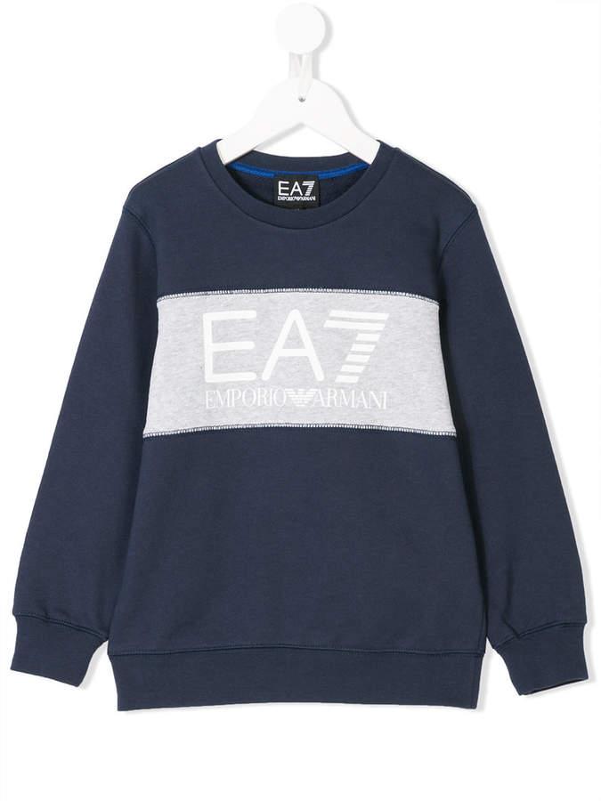 Ea7 Kids logo print sweatshirt