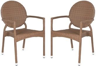 Safavieh 2-pc. Valdez Stackable Arm Chair Set - Indoor and Outdoor