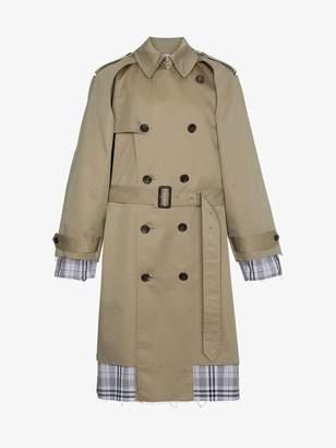 John Lawrence Sullivan check lined trench coat