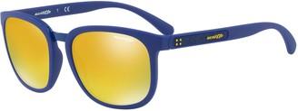 Arnette Tigard AN4238 55mm Square Iridium Mirror Sunglasses