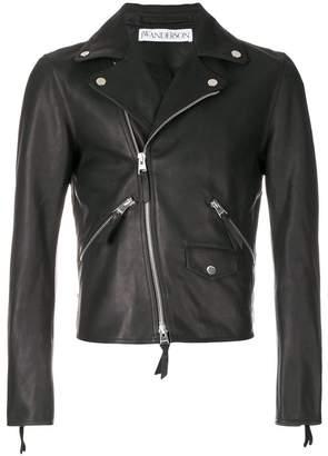 J.W.Anderson heart-patch biker jacket