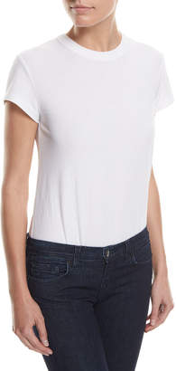 Alexander Wang High-Twist Short-Sleeve Cotton Bodysuit