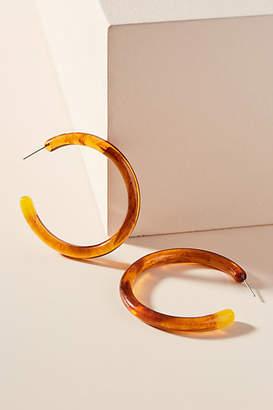 Anthropologie Gold-Flecked Hoop Earrings
