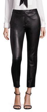 Polo Ralph Lauren Leather Straight-Leg Pants $998 thestylecure.com