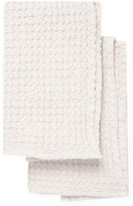 Habidecor Abyss & Waffle Cotton Hand Towels (Set of 2)
