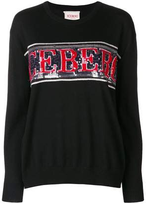 Iceberg sequin embellished jumper