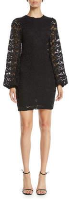 Nightcap Clothing Dixie Lace Bubble-Sleeve Mini Dress
