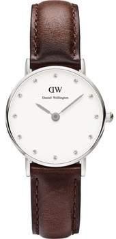 Armbanduhr Classy Bristol 0923DW Damenuhr Braunes Lederarmband