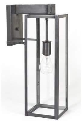 Liliana Union Rustic Medium Socket Clear Glass Outdoor Wall Lantern Union Rustic Shade Finish: Clear Glass, Fixture Finish: Dark Brass