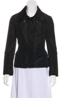 Prada Mink Fur-Trimmed Long Sleeve Jacket