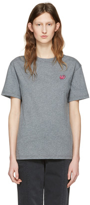 McQ Alexander McQueen Grey Swallow Patch T-Shirt $155 thestylecure.com