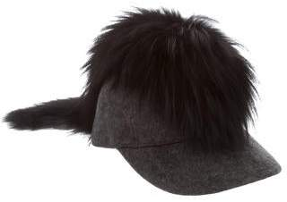 Fendi Wool Baseball Cap w/ Tags