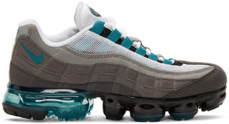 Nike Black and Blue Air Vapormax 95 Sneakers