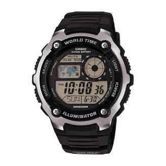 Casio TABLE Table Mens Black Strap Watch-Ae2100w-1aos