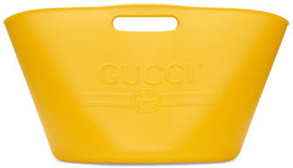 Gucci Yellow Large Rubber Bucket Tote