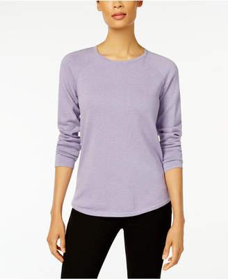 Karen Scott Petite Cotton Curved-Hem Sweater, Created for Macy's