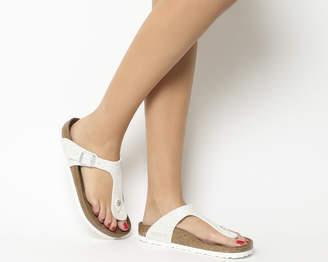 daa38b509fd10 at Office · Birkenstock Gizeh Toe Thong Sandals Magic Snake White