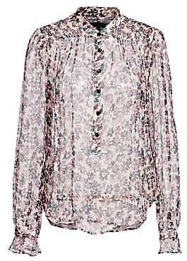 9599c20b310ca3 Rag   Bone Rag  Bone Women s Susan Silk Long-Sleeve Floral Blouse