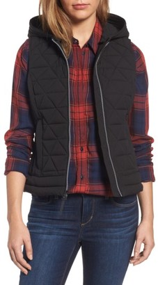Women's Andrew Marc Sage Hooded Quilted Vest $138 thestylecure.com