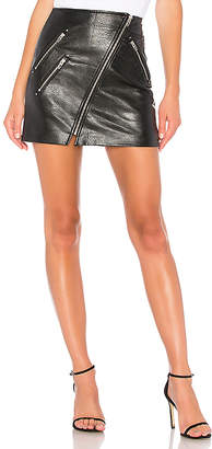 Blank NYC BLANKNYC Vegan Leather Front Zip Mini Skirt