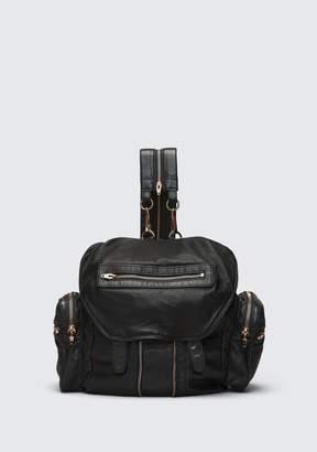 Alexander Wang (アレキサンダー ワン) - Alexander Wang Marti Backpack In Washed Black With Rose Gold