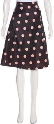 RED Valentino Printed A-Line Knee-Length Skirt