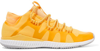 Adidas by Stella McCartney - Crazytrain Bounce Mesh Sneakers - Bright yellow $180 thestylecure.com